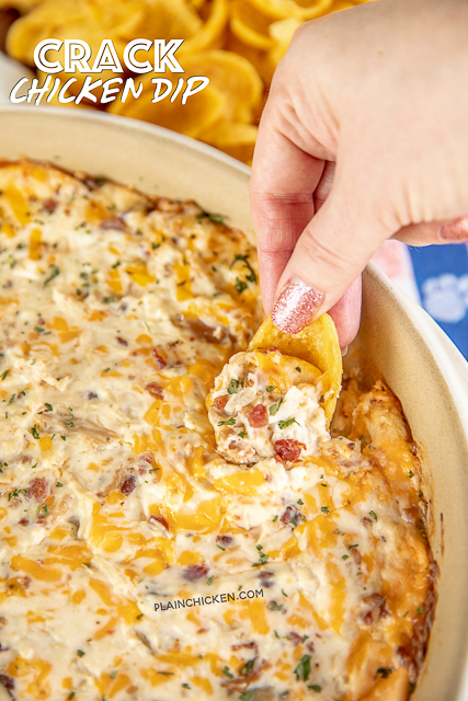 Warm Crack Chicken Dip Recipe