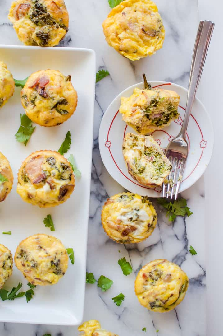 5-Ingredient Bacon & Broccoli Egg Cups {Whole30, Paleo}